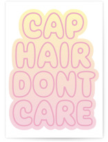 This is a pink graduation card by Baumbirdy called Cap Hair with standard printing on signature in greeting cards.