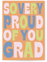 This is a colorful graduation card by Baumbirdy called Beyond Words with standard printing on signature in greeting cards.