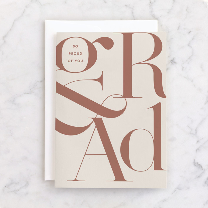 """""""Grad type"""" - Individual Graduation Greeting Cards in Stone by Creo Study."""