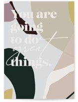 This is a colorful graduation card by Nicoletta Savod called Great Things with standard printing on signature in greeting cards.