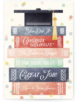 This is a colorful graduation card by Noonday Design called Congrats, You Did It, Graduate with standard printing on signature in greeting cards.
