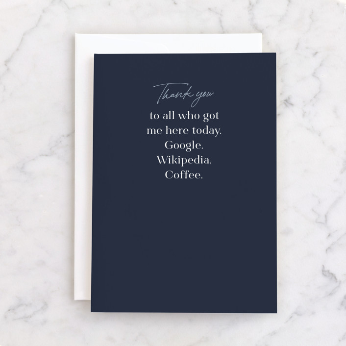"""""""and you"""" - Individual Graduation Greeting Cards in Navy by Caitlin Considine."""
