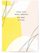 This is a yellow graduation card by Annie Clark called History Made with standard printing on signature in greeting cards.