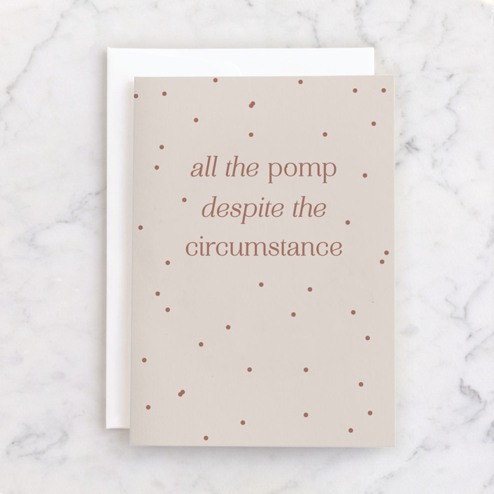 """""""Pomp & Circumstance"""" - Individual Graduation Greeting Cards in Eggshell by Kelsey Mucci."""