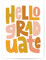 This is a yellow graduation card by Alicia Schultz called Hello Graduate with standard printing on signature in greeting cards.