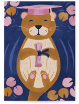 This is a blue graduation card by Gina Grittner called Otterly Proud with standard printing on signature in greeting cards.