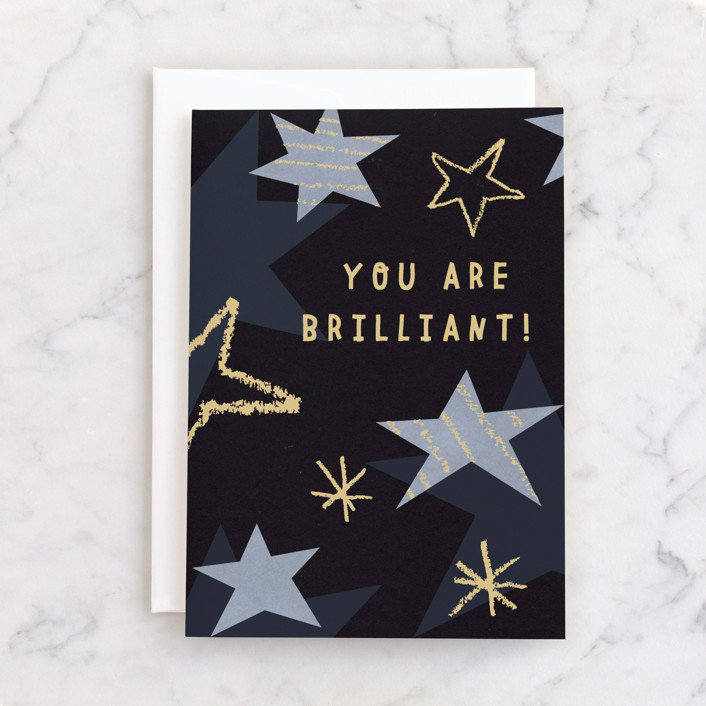 """Brilliant"" - Individual Graduation Greeting Cards in Ink by Sumak Studio."