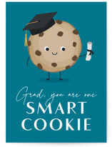This is a blue graduation card by Kacey Kendrick Wagner called One Smart Cookie with standard printing on signature in greeting cards.