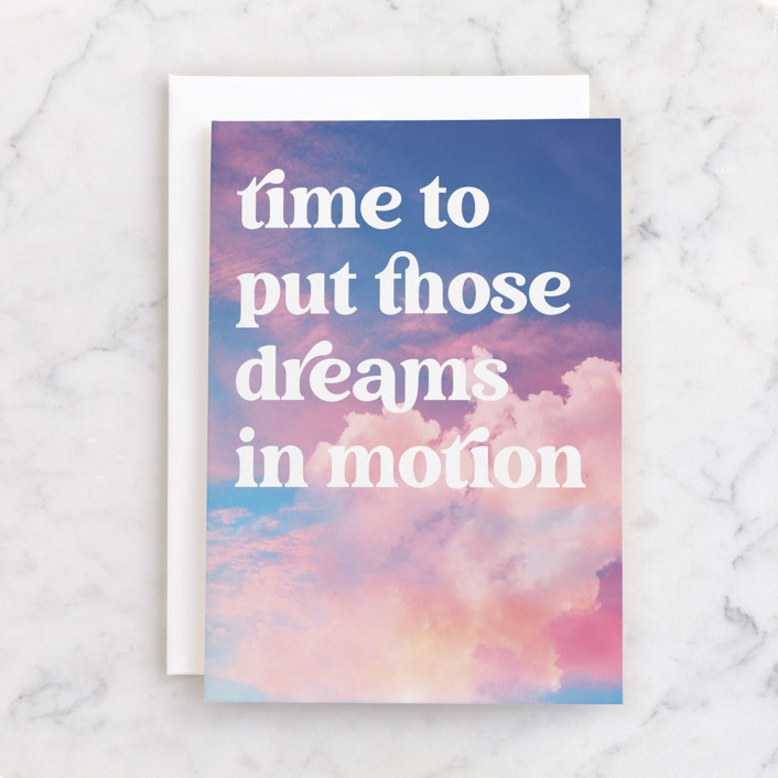 """""""Dreams in motion"""" - Individual Graduation Greeting Cards in Sunset by Catherine Culvenor."""