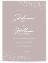 This is a rosegold gloss press wedding invitation by Juliana Zimmermann called Paint Splash with gloss-press printing on signature in standard.