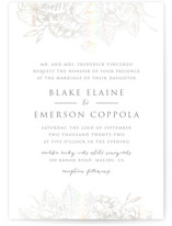 This is a grey gloss press wedding invitation by Smudge Design called Gilded Wildflowers with gloss-press printing on signature in standard.