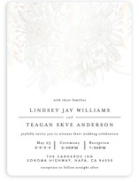 This is a white gloss press wedding invitation by Phrosne Ras called Sketched Bouquet with gloss-press printing on signature in standard.