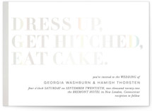 This is a white gloss press wedding invitation by 2birdstone called Basically with gloss-press printing on signature in standard.