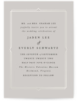 This is a grey gloss press wedding invitation by carly reed walker called Vienna with gloss-press printing on signature in standard.