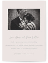 This is a grey gloss press wedding invitation by Sara Hicks Malone called our moment with gloss-press printing on signature in standard.