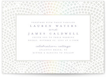 This is a grey gloss press wedding invitation by Pink House Press called Shellebration with gloss-press printing on signature in standard.