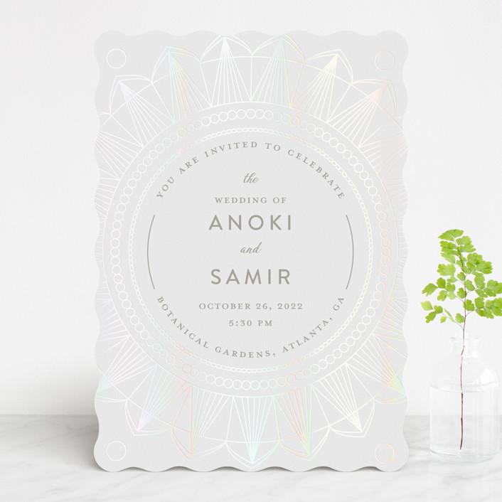 """mandala"" - Gloss-press™ Wedding Invitation in Porcelain by Char-Lynn Griffiths."
