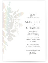This is a white gloss press wedding invitation by Chris Griffith called Wedding veil with gloss-press printing on signature in standard.