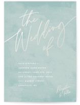 This is a green gloss press wedding invitation by Hooray Creative called Scripted Wedding with gloss-press printing on signature in standard.