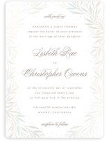 This is a white gloss press wedding invitation by Melanie Kosuge called LISBETH with gloss-press printing on signature in standard.