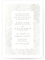 This is a grey gloss press wedding invitation by Alethea and Ruth called Floral Vine Frame with gloss-press printing on signature in standard.