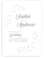 This is a grey gloss press wedding invitation by Tennie and Co. called Vineyard with gloss-press printing on signature in standard.
