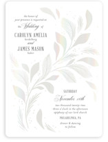 This is a white gloss press wedding invitation by Paper Raven Co. called Entwining with gloss-press printing on signature in standard.