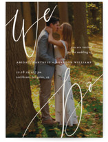 This is a grey gloss press wedding invitation by Simona Camp called Photo Vows with gloss-press printing on signature in standard.