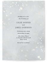 This is a grey gloss press wedding invitation by Elly called Minimal Abstract with gloss-press printing on signature in standard.