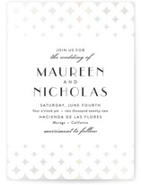 This is a white gloss press wedding invitation by Cat Caudillo called Maureen with gloss-press printing on signature in standard.