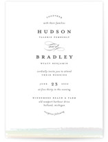 This is a white gloss press wedding invitation by Ashley DeMeyere called Gala with gloss-press printing on signature in standard.