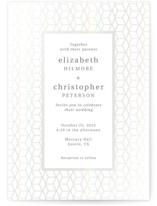 This is a grey gloss press wedding invitation by Rosana Laiz Blursbyai called Geometric Pattern with gloss-press printing on signature in standard.