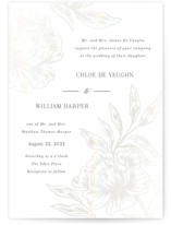 This is a white gloss press wedding invitation by Elly called Loving with gloss-press printing on signature in standard.