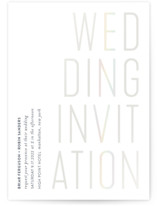 This is a white gloss press wedding invitation by Katy Shen called An Invitation with gloss-press printing on signature in standard.