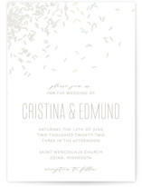This is a white gloss press wedding invitation by Holly Whitcomb called Rice Toss with gloss-press printing on signature in standard.