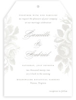 This is a white gloss press wedding invitation by Design Lotus called Idyllic with gloss-press printing on signature in standard.