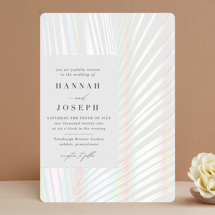 """Pristine"" - Gloss-press® Wedding Invitation in Pearl by Robin Ott."