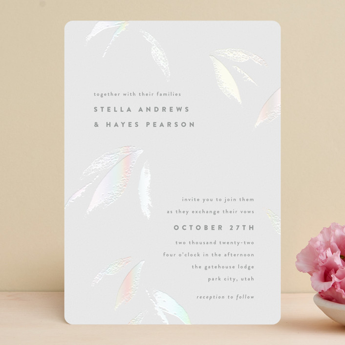 """""""Gilded Woods"""" - Gloss-press® Wedding Invitation in Alps by Robert and Stella."""