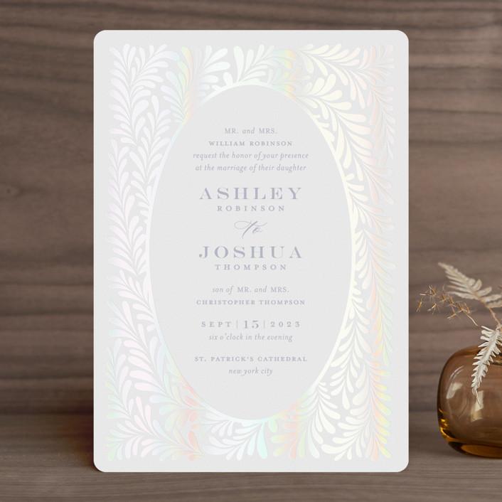 """""""Regal"""" - Gloss-press™ Wedding Invitation in Sky by Nicole Barreto."""