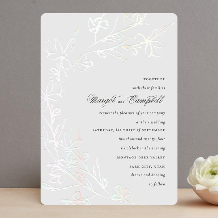 """Daydream"" - Gloss-press® Wedding Invitation in Porcelain by Kimberly FitzSimons."