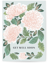 This is a green get well soon card by Paper Raven Co. called Enchantment with standard printing on signature in greeting cards.