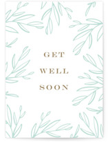 This is a brown get well soon card by Ilze Lucero called Get Well Soon Branches with standard printing on signature in greeting cards.