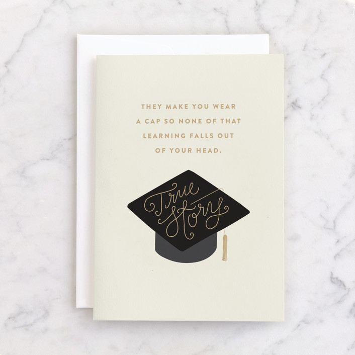 """""""true story"""" - Individual Get Well Greeting Cards in Cream by Jennifer Wick."""