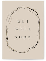 This is a brown get well soon card by Lori Wemple called BIRCH with standard printing on signature in greeting cards.