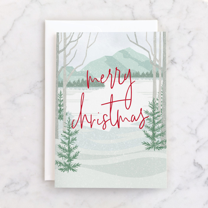 """""""Photo shoot"""" - Individual Holiday Greeting Cards in Forest by Stacey Meacham."""