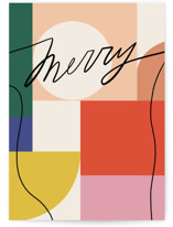 This is a colorful greeting card by Meg Gleason called Rainbow Line with standard printing on signature in greeting cards.