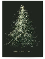This is a green greeting card by Leah Bisch called FROSTED TREE  with standard printing on signature in greeting cards.