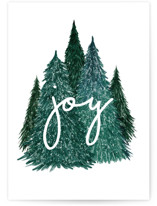 This is a green greeting card by Remioni called Pines with standard printing on signature in greeting cards.