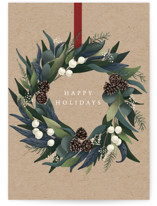 This is a brown greeting card by Yuliya Evseeva called Rustic Wreath with standard printing on signature in greeting cards.