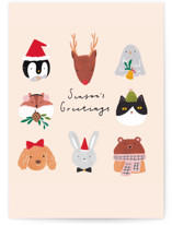 This is a colorful greeting card by Cindy Chu called animal greetings with standard printing on signature in greeting cards.